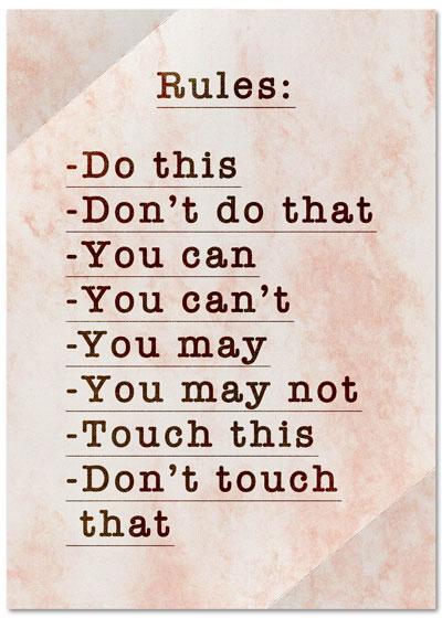 Essay on rules